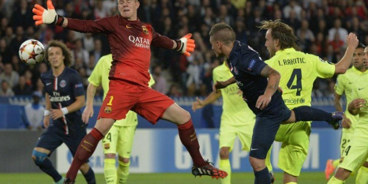 Barcelona sufrió dura caída en París en un duelo marcado por un horrible error de Ter Stegen