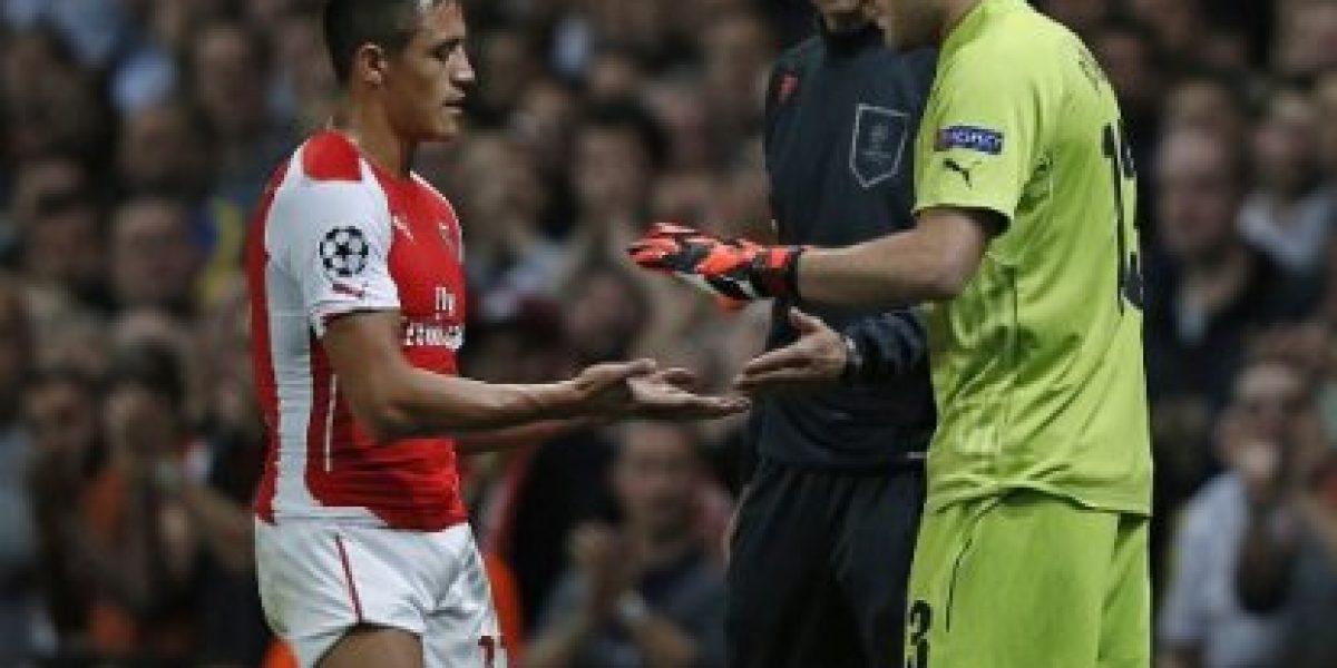 Galería: Las mejores imágenes de Alexis en el partido del Arsenal ante Galatasaray
