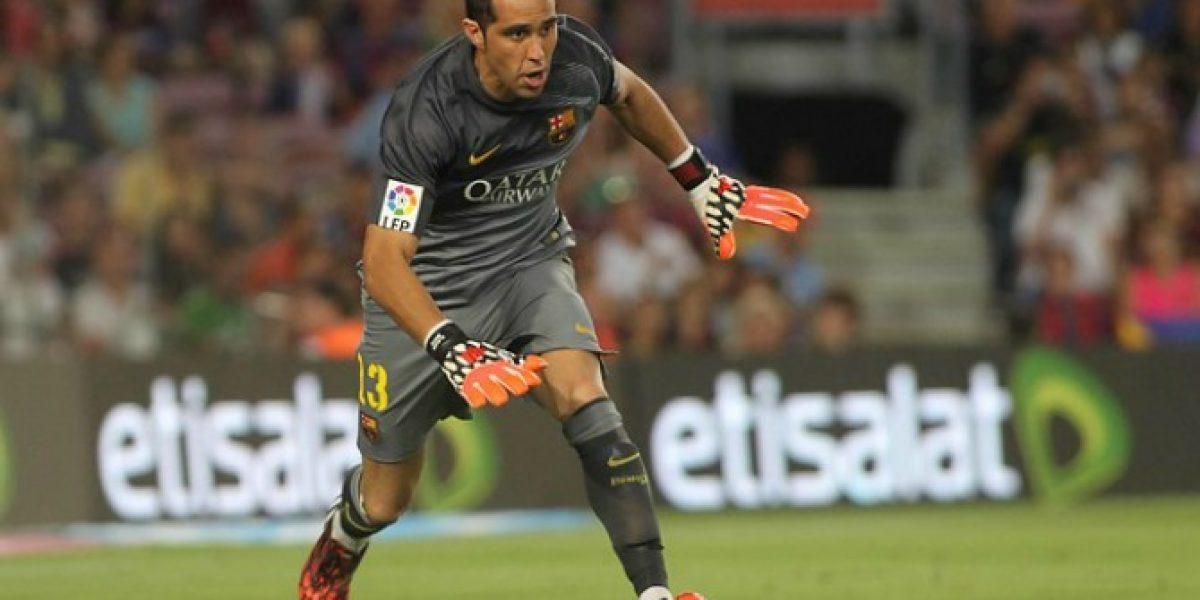 Hinchas de Barcelona quieren a Claudio Bravo en la Champions League