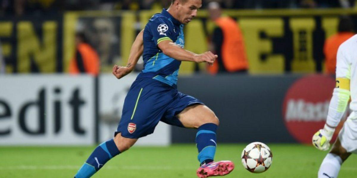 La furia de compañero de Alexis en Arsenal: