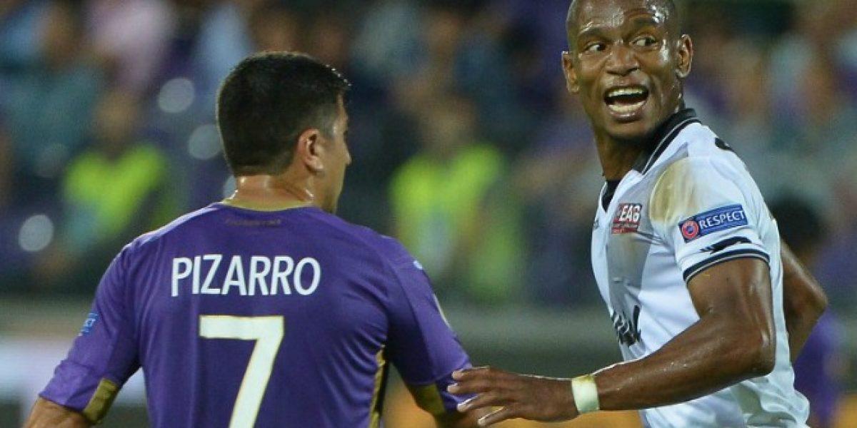 David Pizarro jugó un tiempo en goleada de Fiorentina en Europa League