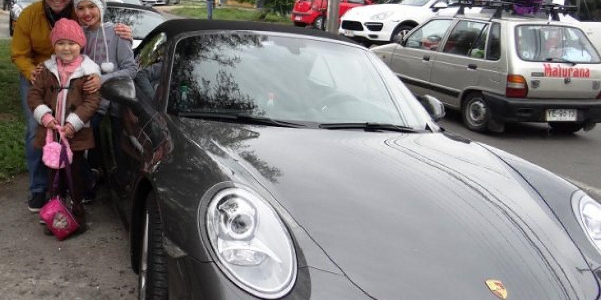 GALERÍA: Club Porsche Chile realizó caravana junto a niños con cáncer