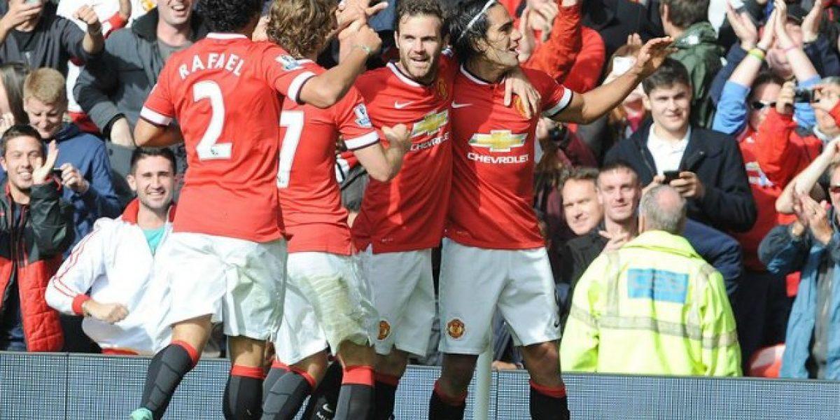 De Gea, Di María y Falcao impulsan al Manchester United ante el Everton