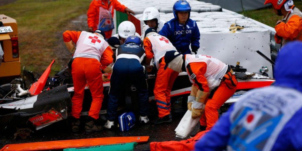 Galería: El grave accidente de Bianchi en el GP de Japón