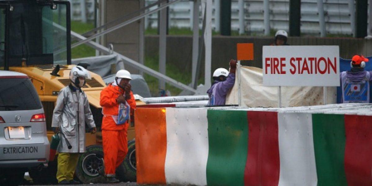 Video: las imágenes del impactante choque de Jules Bianchi en la F1
