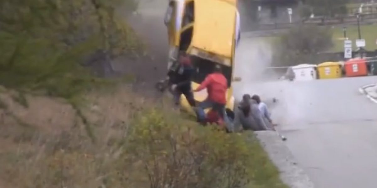 Video: Otro escalofriante accidente sacudió al mundo tuerca