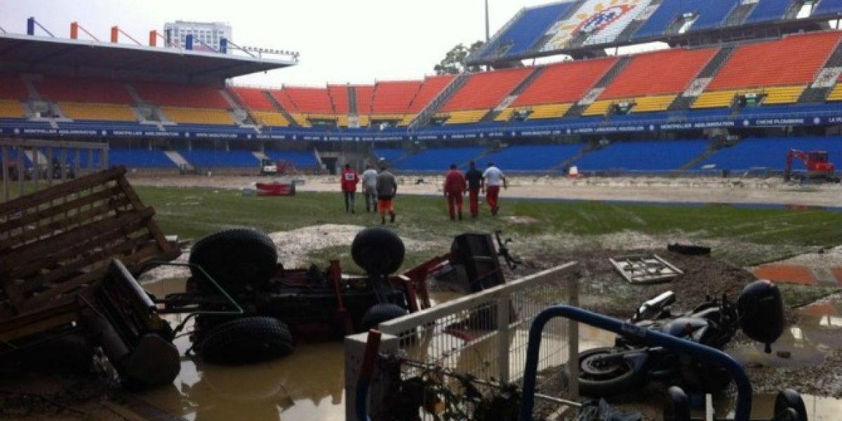 Inutilizable: El deplorabe estado en el que quedó el estadio de Montpellier