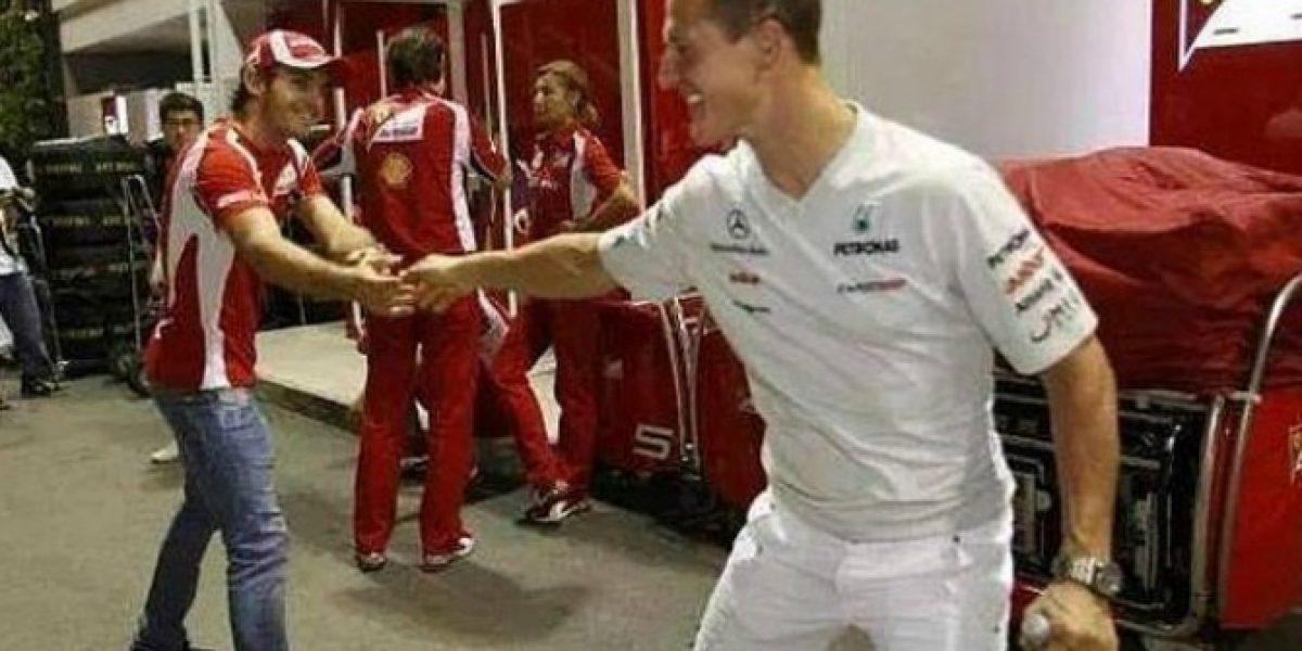 La foto de Schumacher con la que Ferrari anima a Bianchi por Twitter