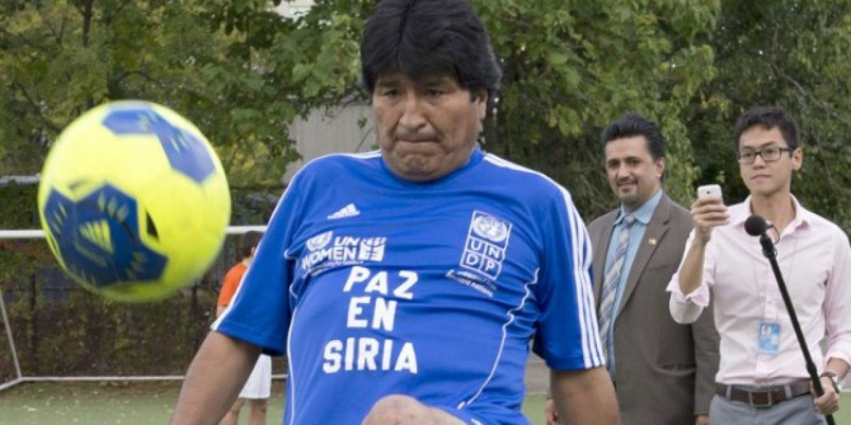 Evo Morales le anotó a equipo de ex astros del Real Madrid