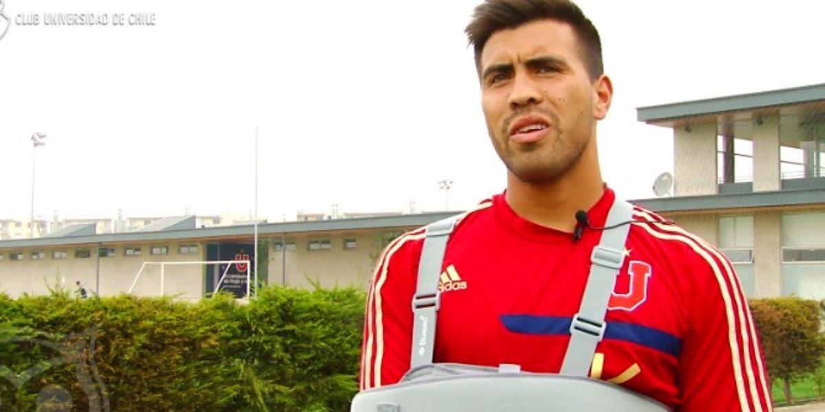 Gonzalo Espinoza tras su lesión:
