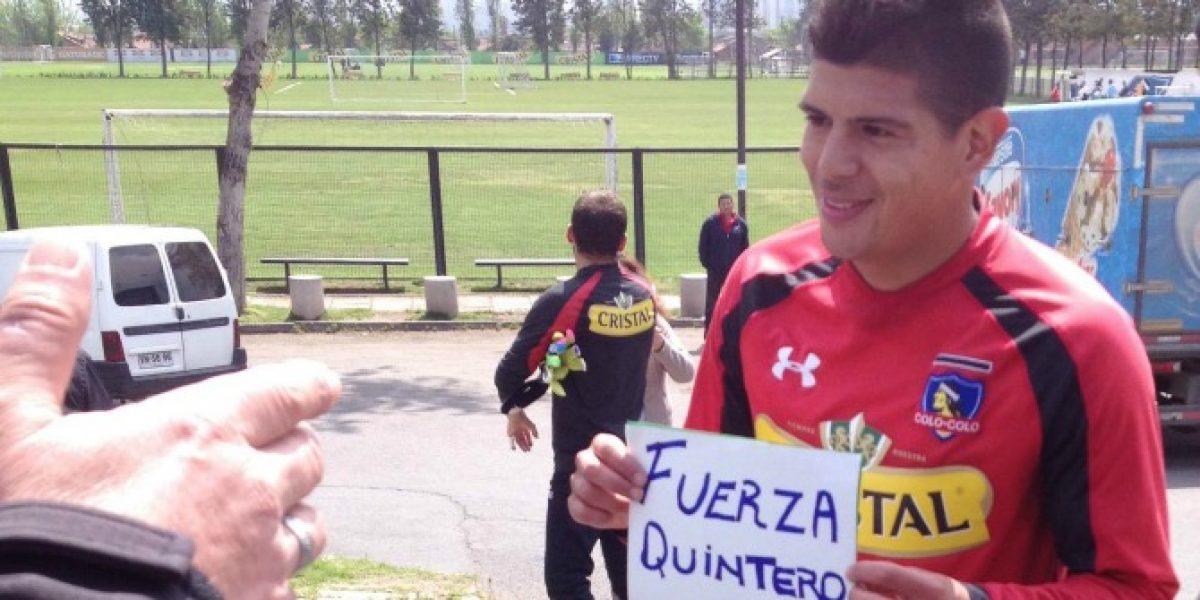 Los jugadores de Colo Colo se unieron para enviar #FuerzaQuintero