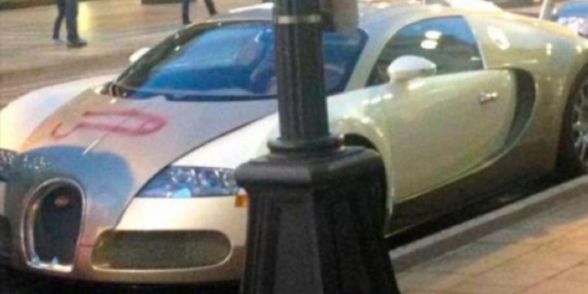 Pintan dibujo indecente en un Bugatti Veyron
