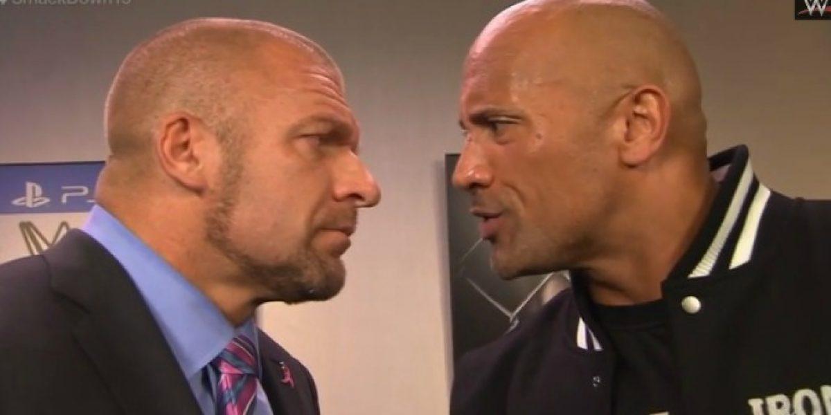 Video: ¿Se hará realidad? The Rock y Triple H se desafían para Wrestlemania