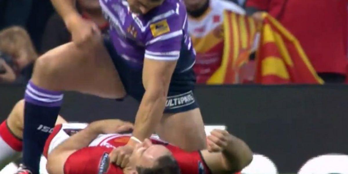 Rechazo mundial para jugador de rugby que golpeó a rival inconsciente