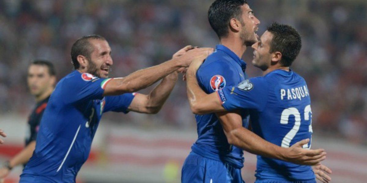 Poco convincente: Italia venció con lo justo a la débil Malta