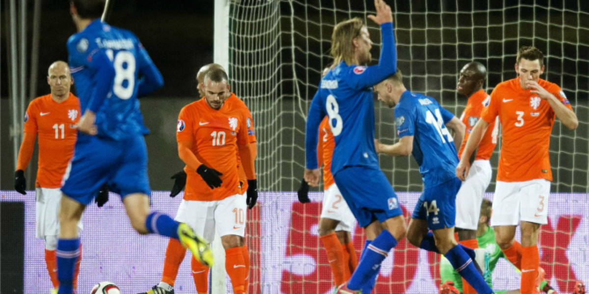 Sorpresa en Europa: Islandia vence con autoridad a Holanda