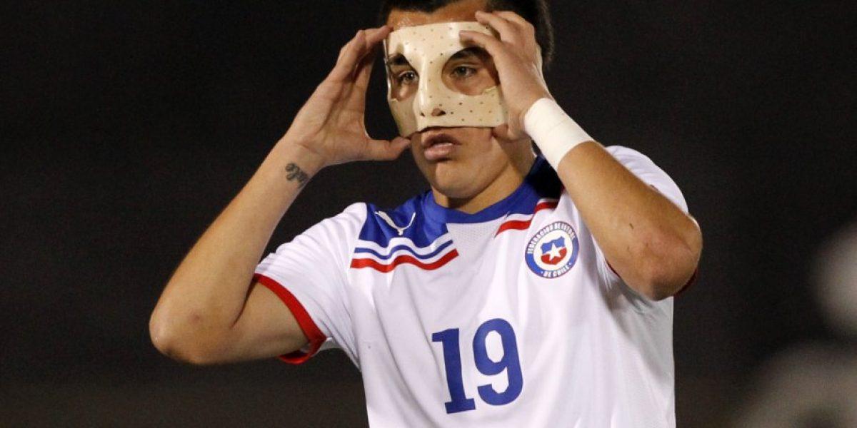 Gary Medel se une al club de futbolistas que usaron protecciones para jugar