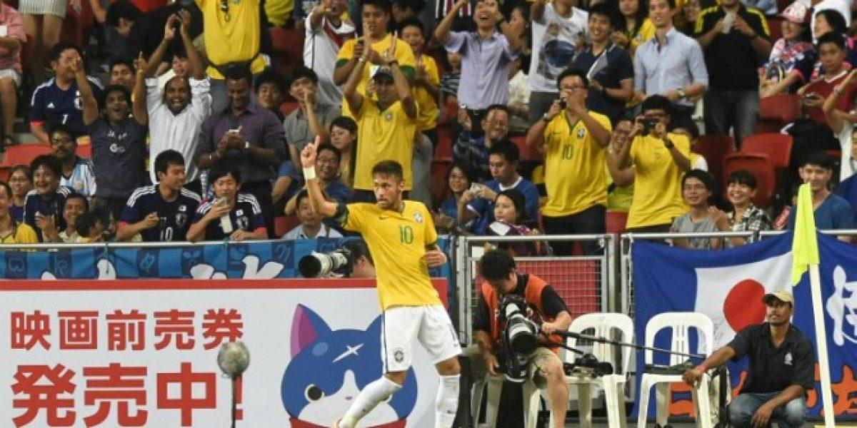 Video: Brasil derrotó a Japón 4-0 con Neymar como gran figura