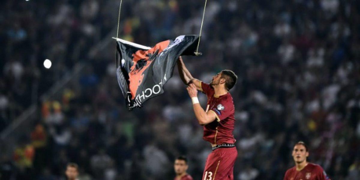 Eurocopa: Serios incidentes obligaron a suspender duelo entre Serbia y Albania