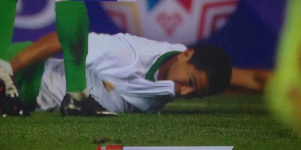 La particular celebración de Saucedo ante Chile hizo arder Twitter