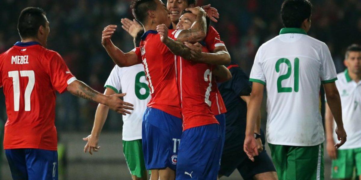 Galería: Las mejores imagenes del primer tiempo entre Chile y Bolivia