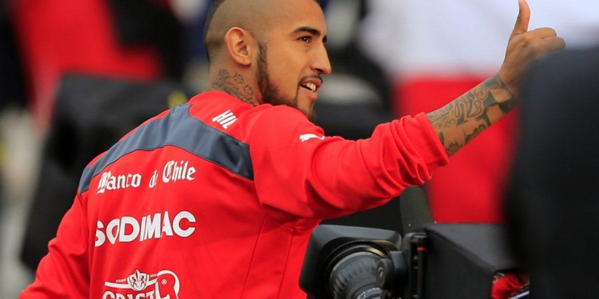 Galería: Los jugadores de la Roja saludando a la hinchada