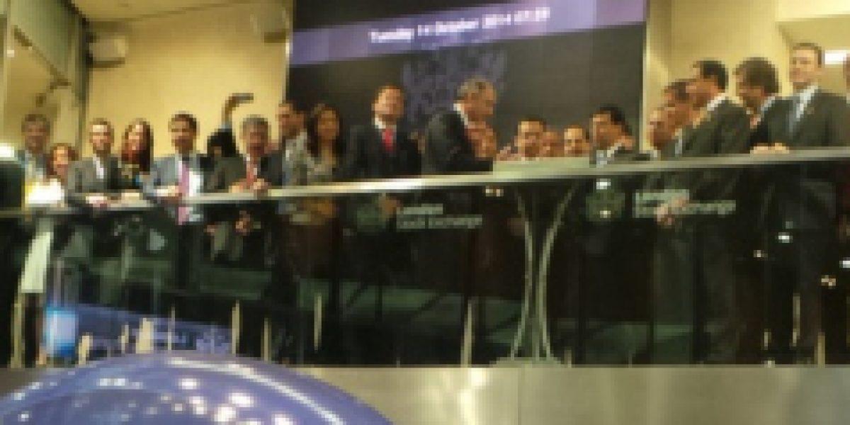 Ministro de Hacienda llamó a estrechar alianza público-privada tras dar inicio a operaciones en la Bolsa de Valores de Londres