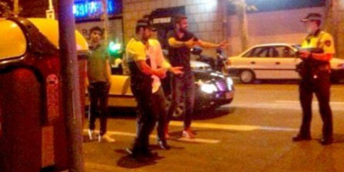 La discusión de Gerard Piqué con policías españoles