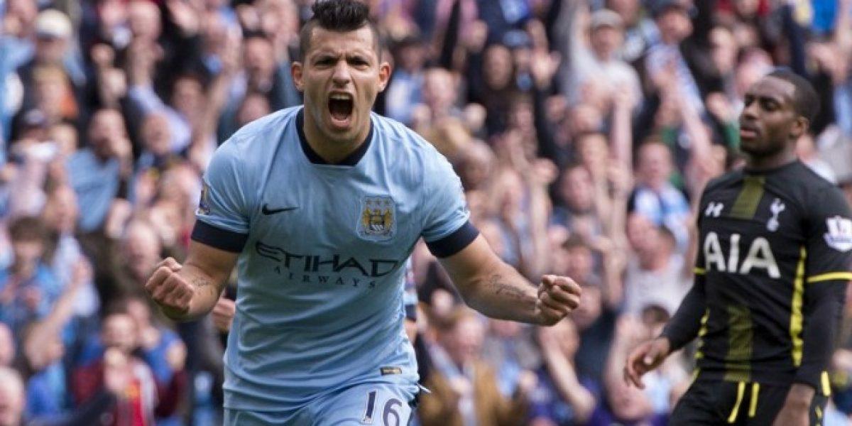 Con un show de Agüero, el City goleó al Tottenham y le mete presión al Chelsea