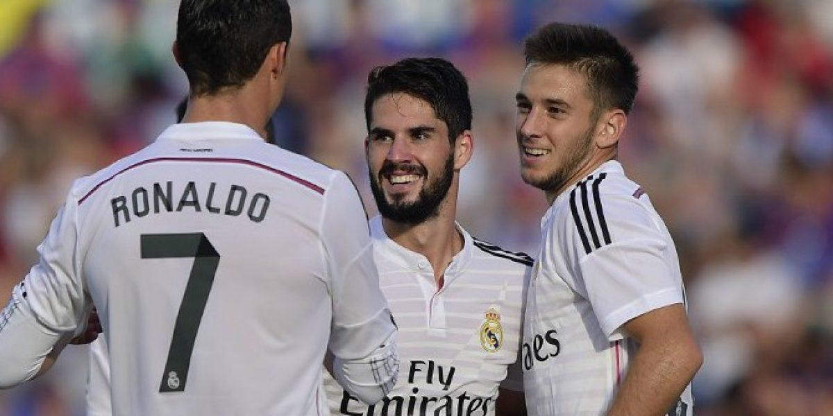 Real Madrid golea al Levante y mete presión al Barcelona