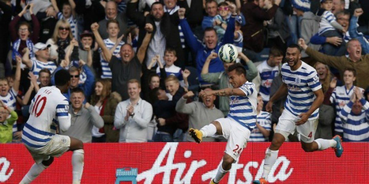 Inspiración goleadora de Edu Vargas no le alcanzó a QPR ante Liverpool