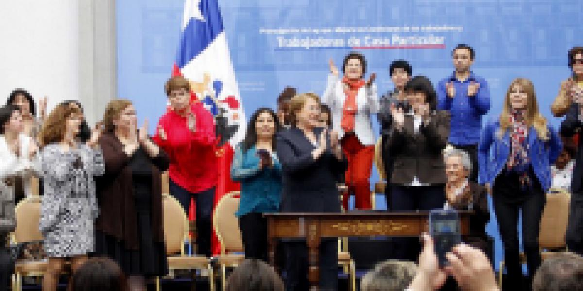 Presidenta Bachelet promulga ley que beneficia a trabajadores de casa particular
