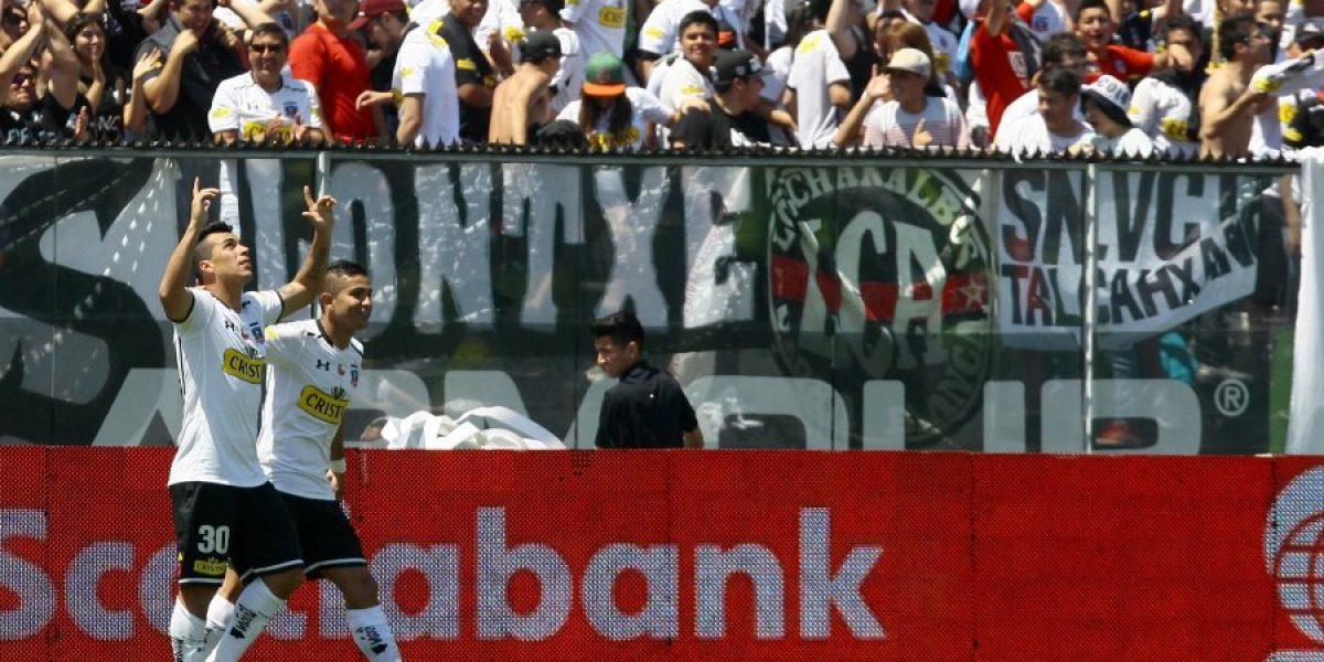 Así fue el gol de Paredes a Johnny Herrera y la celebración de Colo Colo