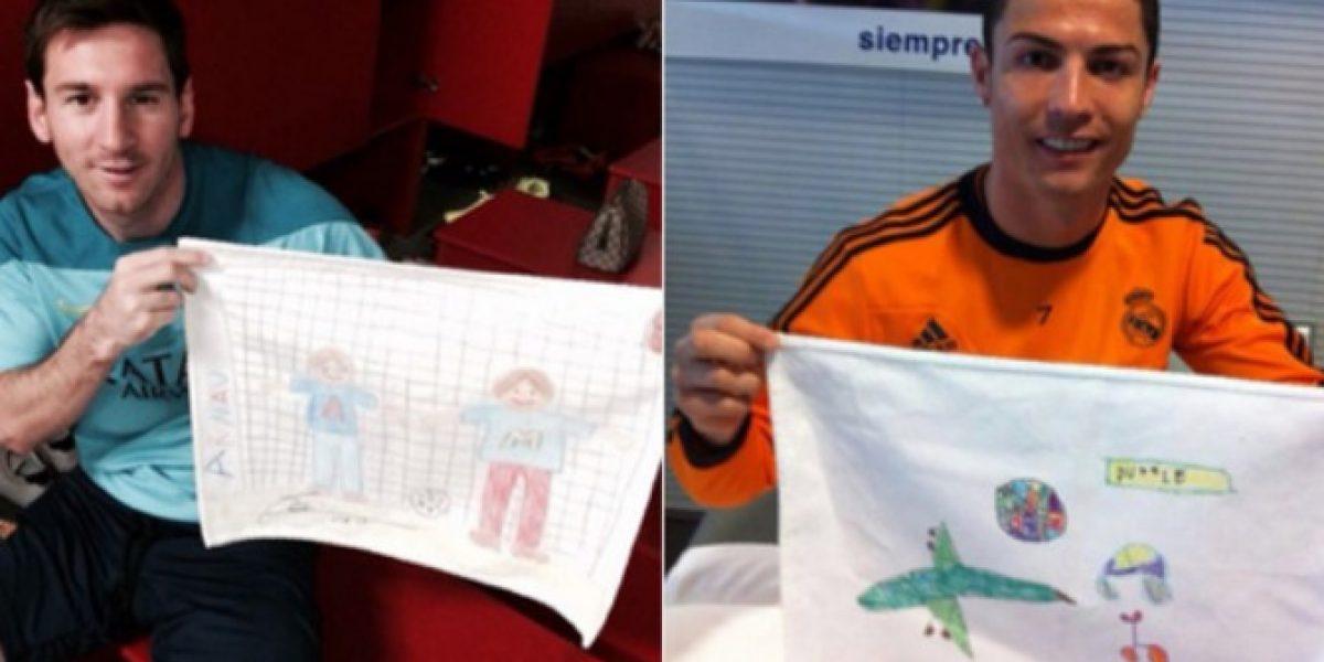 Previo al derbi: Messi y Ronaldo compiten hasta en una subasta benéfica