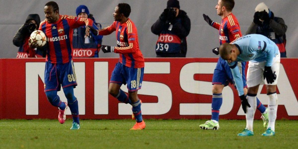 Manchester City empata ante el CSKA y se complica en la Champions League