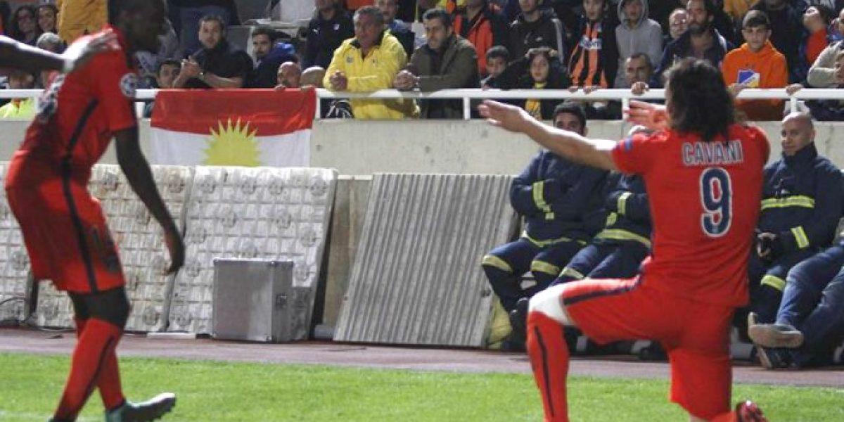 Volvió a sacar la metralleta: Edinson Cavani fue el héroe del PSG en Champions
