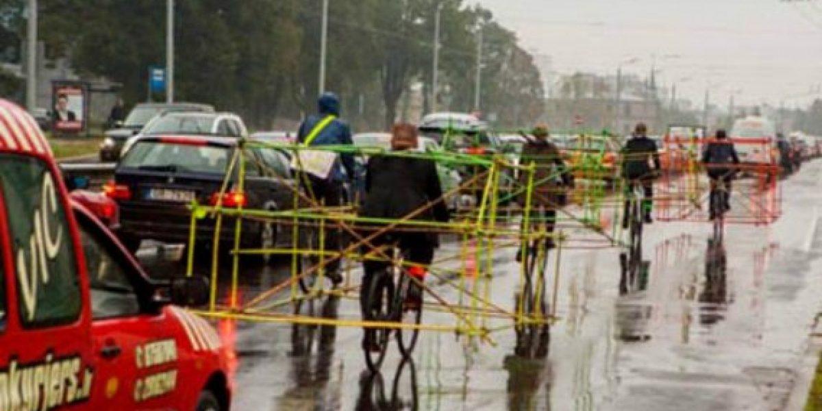 La venganza de los ciclistas por el excesivo uso de autos