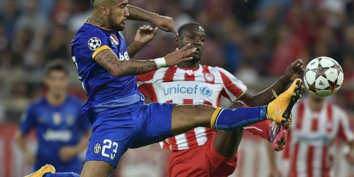 Juventus Con Vidal Todo El Partido Cayo Ante Olympiacos Por Champions League