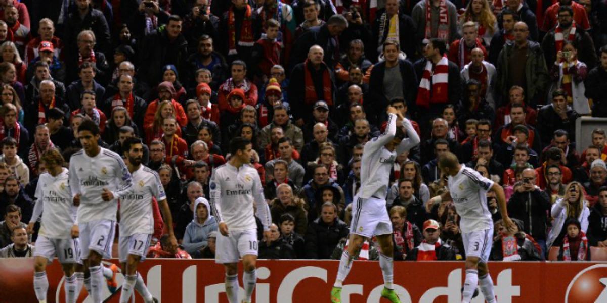 Real Madrid goleó a Liverpool y llega cargado de confianza al Derbi