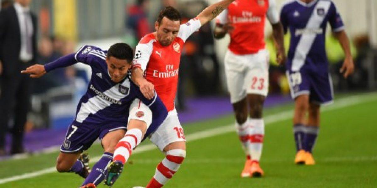 Galería: Las mejores imagenes del primer tiempo entre Arsenal y Anderlecht