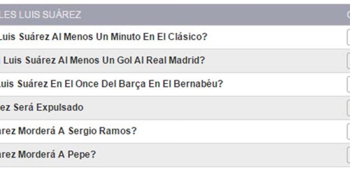 ¿Cuánto pagan las casas de apuestas si Suárez muerde a Ramos o Pepe?