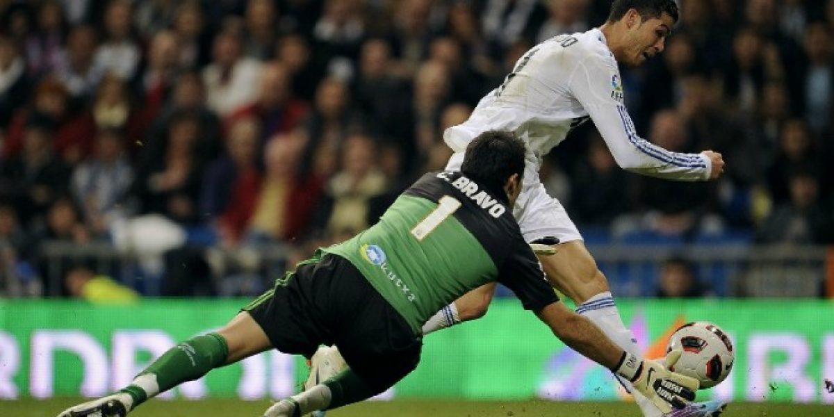 El nefasto registro de Claudio Bravo ante la efectividad goleadora del Madrid