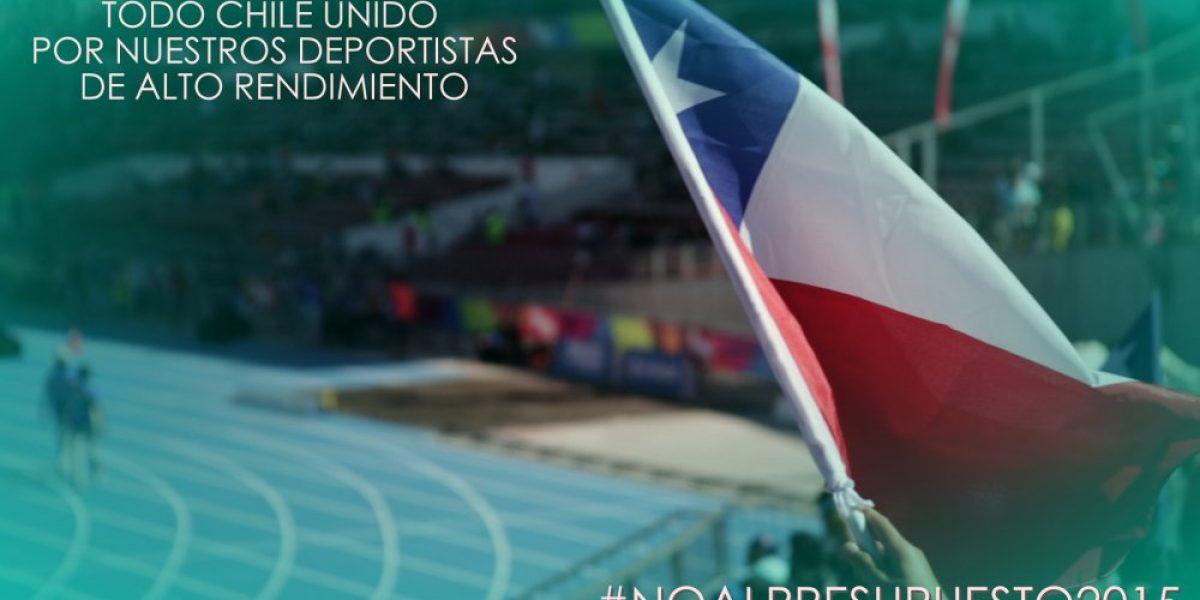 Principales exponentes del deporte se unen a la campaña #NoAlPresupuesto2015