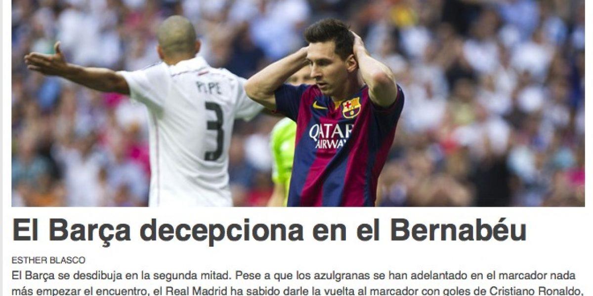 Los titulares de los portales españoles tras el electrizante clásico
