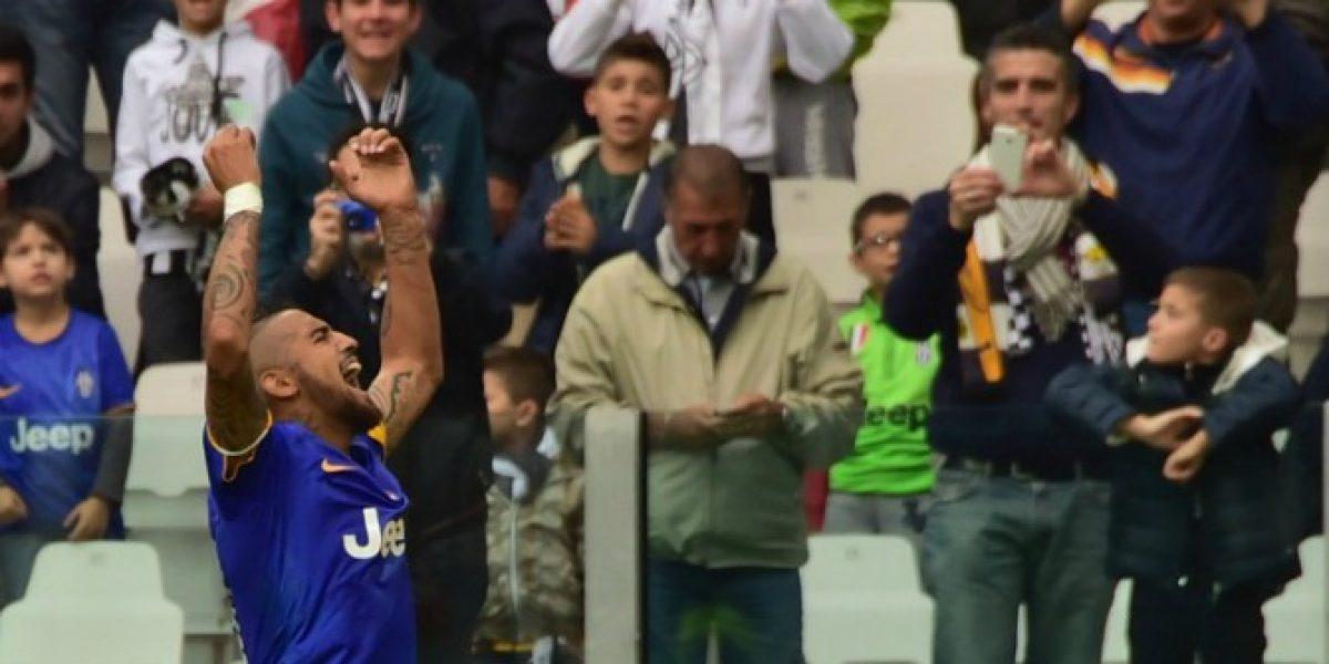 Video: Este tanto de Arturo Vidal abrió el triunfo de Juventus frente a Palermo