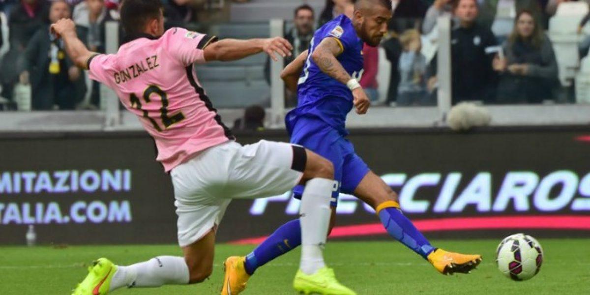 Vidal fue fundamental e inició el camino del triunfo de Juventus sobre Palermo