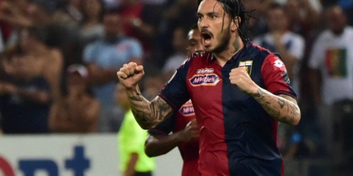Pinilla pasó de villano a héroe en sufrida victoria de Genoa en la Serie A