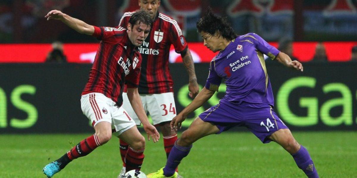 Mati Fernández tuvo correcta actuación en empate de Fiorentina ante Milan