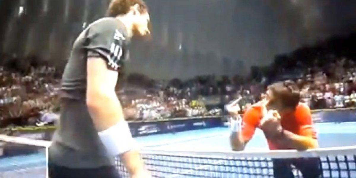 Robredo perdió la final de Valencia y le levantó el dedo del medio a Murray