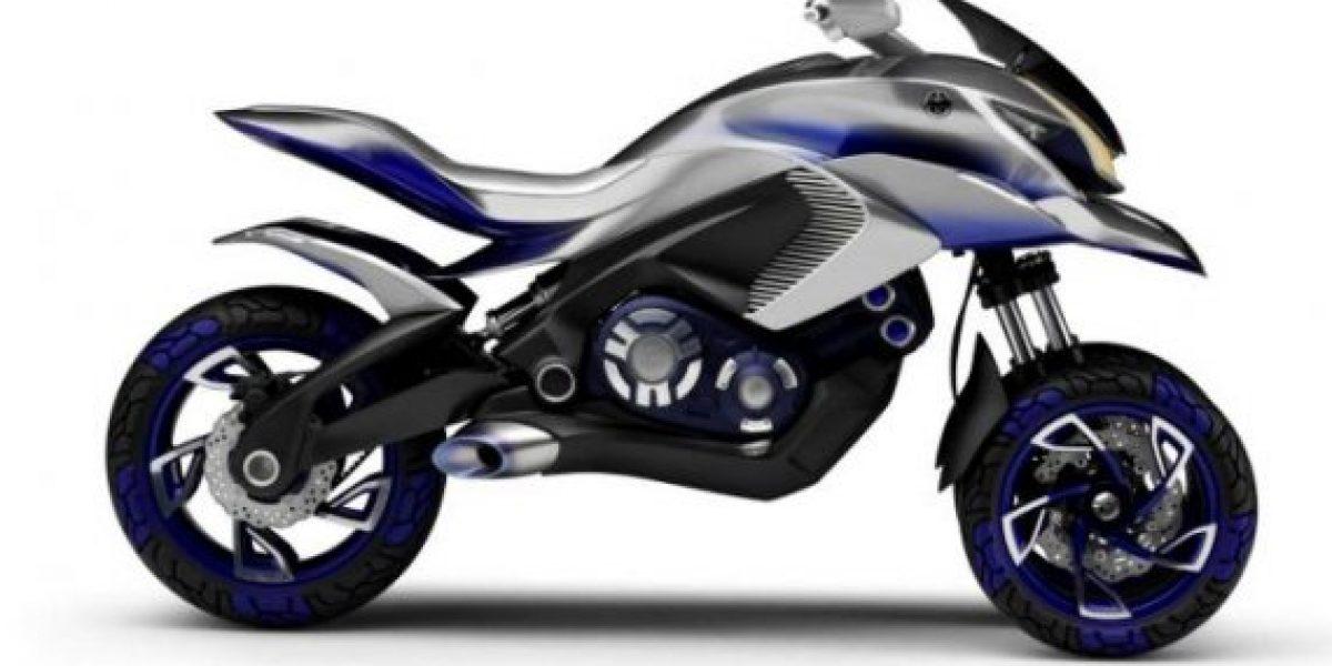 La primera moto de tres ruedas Yamaha